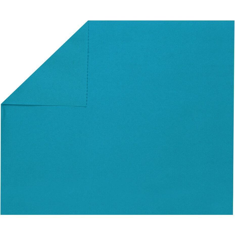 Set de table elegant tissu jetable airlaid bleu aqua