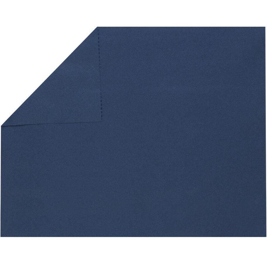 Set de table elegant tissu jetable airlaid bleu royal