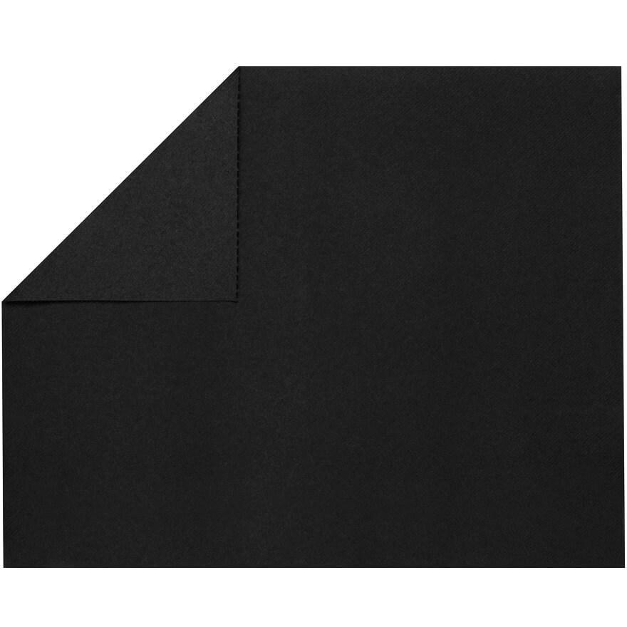 Set de table elegant tissu jetable airlaid noir