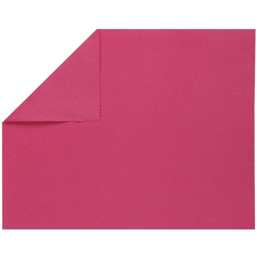 Set de table elegant tissu jetable airlaid rose fuchsia