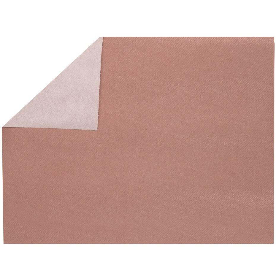 Set de table elegant tissu jetable airlaid rose gold