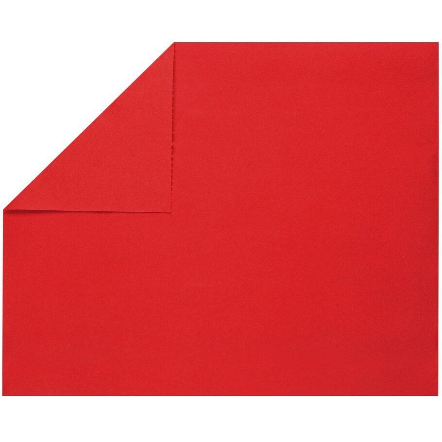 Set de table elegant tissu jetable airlaid rouge