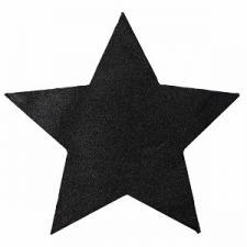 Set de table étoile pailletée noir (x2) REF/3928