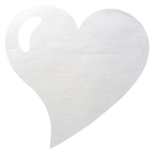 Set de table mariage coeur blanc 1