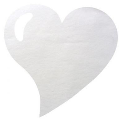 Set de table coeur blanc (x50) REF/2935