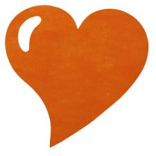 Set de table coeur orange (x50) REF/2935
