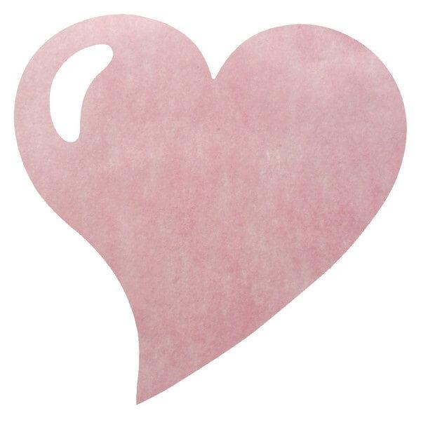 Set de table mariage coeur rose