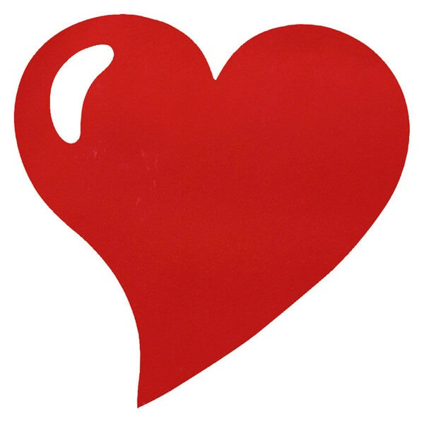 Set de table mariage coeur rouge
