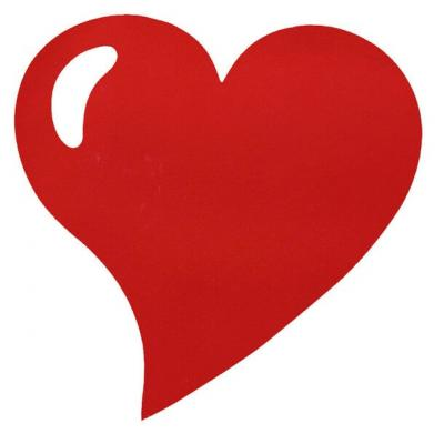 Set de table coeur rouge (x50) REF/2935