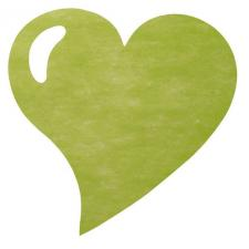 Set de table coeur vert (x50) REF/2935
