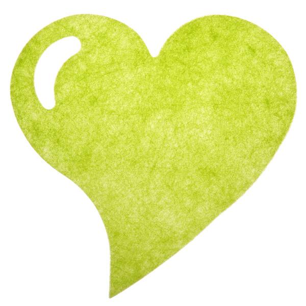 Set de table mariage fanon coeur vert