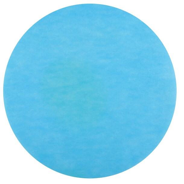 Set de table rond bleu turquoise