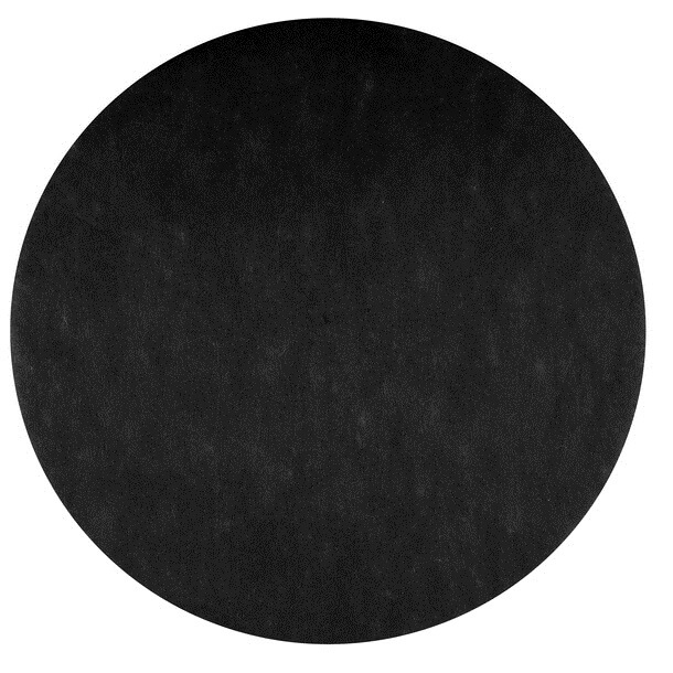 Set de table rond noir