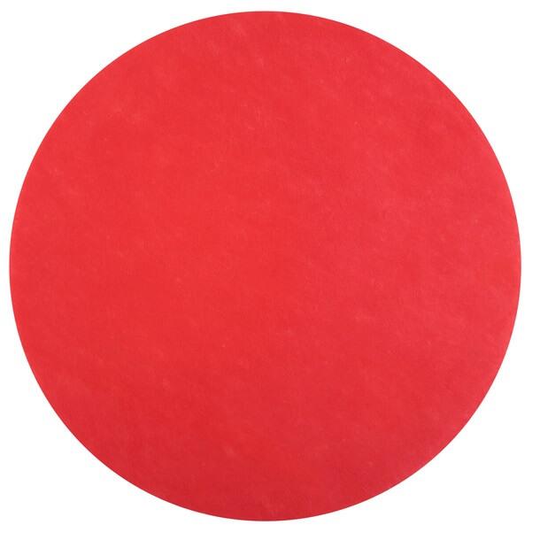 Set de table rond rouge