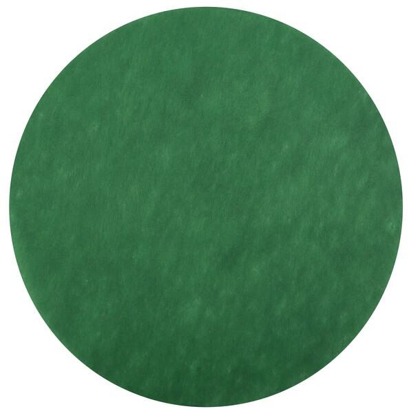 Set de table rond vert sapin