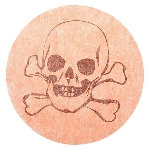 Set de table tête de mort orange (x6) REF/3823
