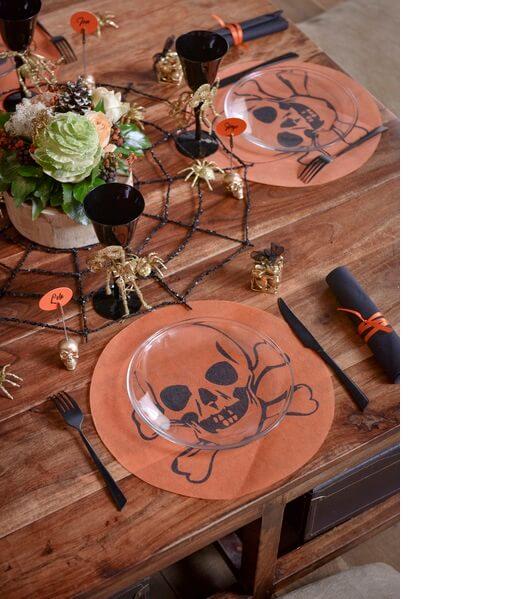 Set de table tete de mort