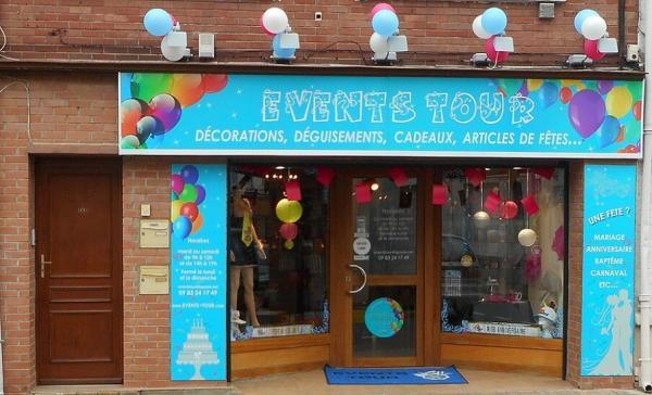 Showroom boutique de fete events tour nord pas de calais
