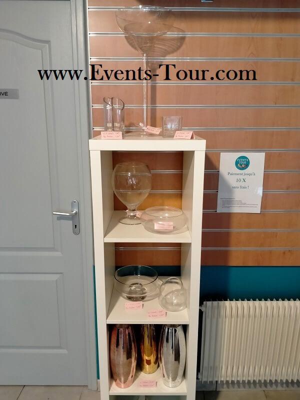 Showroom fete location de materiel de reception decoration events tour nord pas de calais