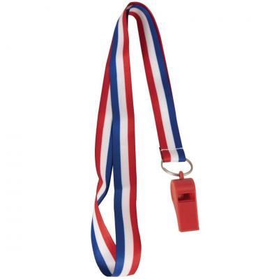Sifflet du supporter France tricolore bleu, blanc et rouge (x1) REF/17200
