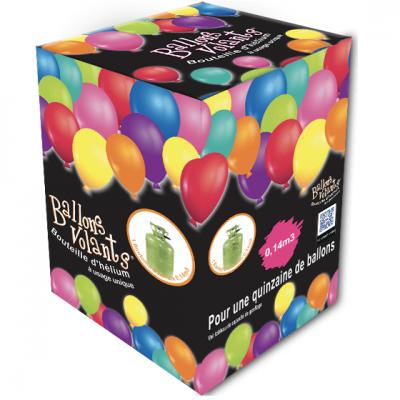 Station de gonflage en bouteille d'hélium de 0.14 m3 pour ballon volant de fête (x1) REF/48414