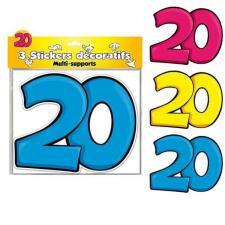 3 Stickers: Anniversaire 20ans (x1) REF/DSA02