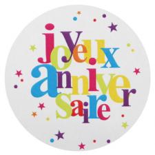 Stickers joyeux anniversaire (x50) REF/5303