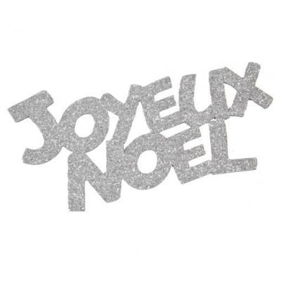 Grand stickers joyeux Noël argent (x2) REF/DEC848