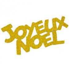 Grand stickers joyeux Noël or (x2) REF/DEC848