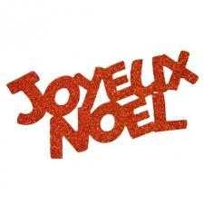 Grand stickers joyeux Noël rouge (x2) REF/DEC848