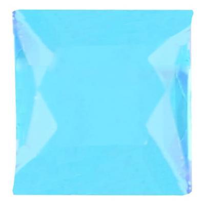 Strass carrée autocollante bleu turquoise (x48) REF/4113