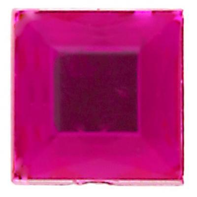 Strass carrée autocollante fuchsia (x48) REF/4113