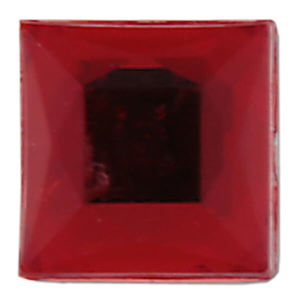 Strass autocollante carree rouge