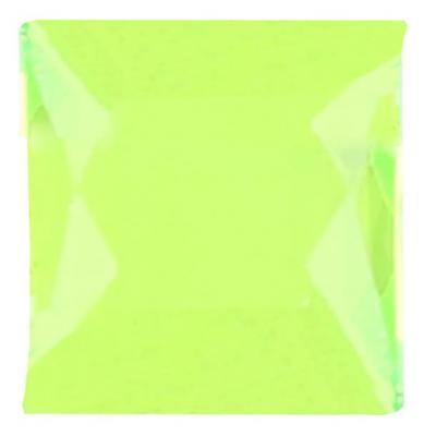 Strass carrée autocollante verte (x48) REF/4113