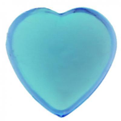 Strass coeur autocollante bleu turquoise (x36) REF/4114