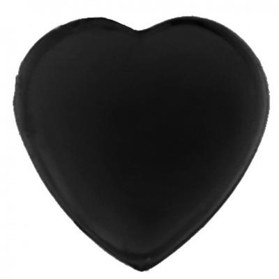 Strass coeur autocollante noire (x36) REF/4114