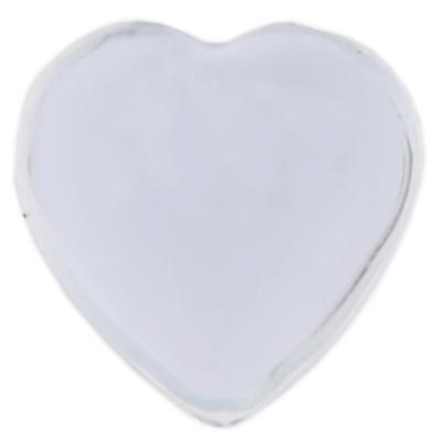 Strass coeur autocollante transparente (x36) REF/4114