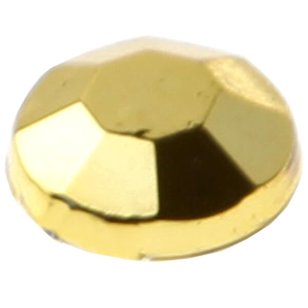 Strass diamant autocollante or