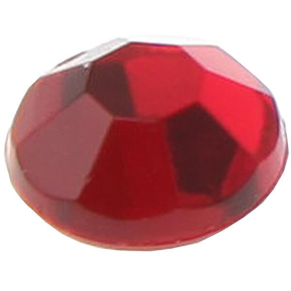 Strass diamant autocollante rouge