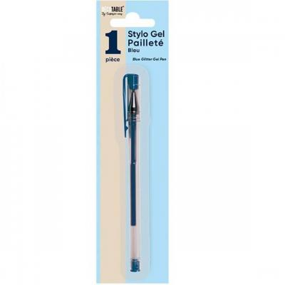 Stylo avec gel bleu pailleté (x1) REF/SPB