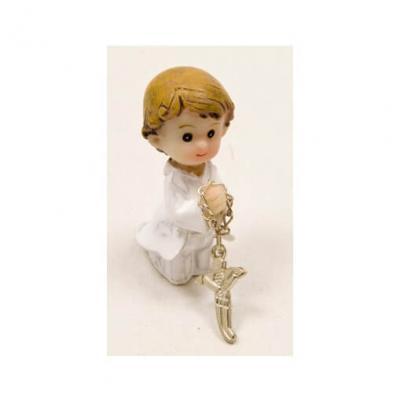 Sujet communion garçon à genoux (x2) REF/RES867G