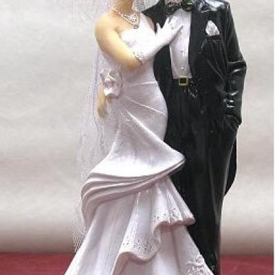 Grande figurine mariage: Couple de mariés (x1) REF/SUJ4939