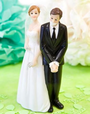Figurine mariage: Couple de mariés (x1) REF/SUJ4961