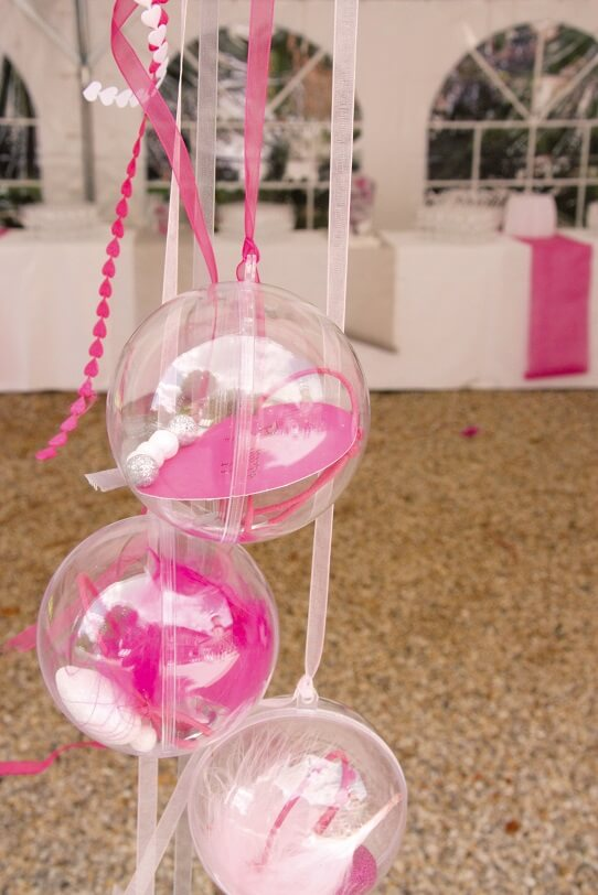 Suspension avec boule transparente
