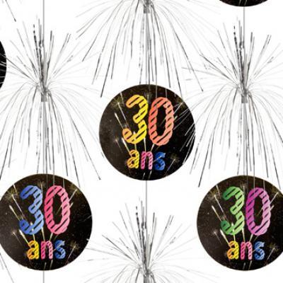 Suspension cascade anniversaire 30ans (x1) REF/AA2011CH/30