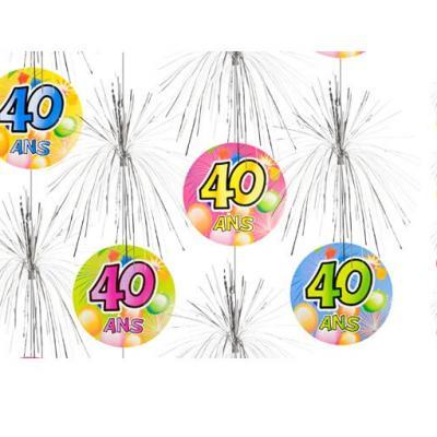 Suspension cascade anniversaire 40ans (x1) REF/AA1011PP/40