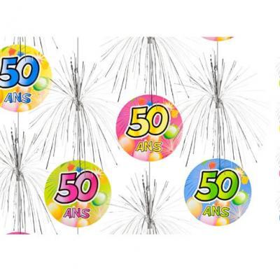 Suspension cascade anniversaire 50ans (x1) REF/AA1011PP/50