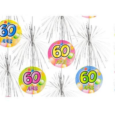 Suspension cascade anniversaire 60ans (x1) REF/AA1011PP/60