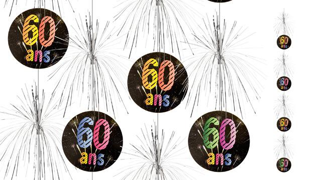 Suspension cascade anniversaire 60ans