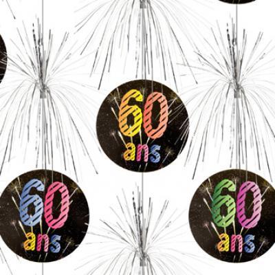 Suspension cascade anniversaire 60ans (x1) REF/AA2011CH/60